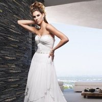 Wedding Dresses, Sweetheart Wedding Dresses, A-line Wedding Dresses, Romantic Wedding Dresses, Fashion, ivory, Vineyard, Garden, Boho Chic, Romantic, Sweetheart, Strapless, Strapless Wedding Dresses, A-line, Beading, Floor, Chiffon, Country, Tiers, Ruching, Cb couture, Beaded Wedding Dresses, Boho Chic Wedding Dresses, Chiffon Wedding Dresses, Floor Wedding Dresses, Tiered Wedding Dresses