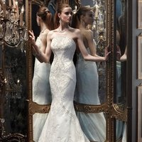 Wedding Dresses, Mermaid Wedding Dresses, Vintage Wedding Dresses, Hollywood Glam Wedding Dresses, Fashion, white, ivory, silver, Vintage, Modern, Strapless, Strapless Wedding Dresses, Beading, Floor, Organza, Silk, Dropped, Cb couture, Mermaid/Trumpet, Fit-n-Flare, hollywood glam, Modern Wedding Dresses, Beaded Wedding Dresses, organza wedding dresses, trumpet wedding dresses, Silk Wedding Dresses, Floor Wedding Dresses