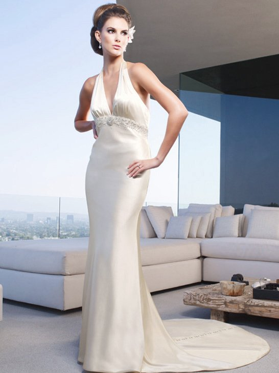Wedding Dresses, Romantic Wedding Dresses, Fashion, ivory, Vineyard, Boho Chic, Romantic, Beading, Halter, Empire, V-neck, V-neck Wedding Dresses, Sheath, Floor, Silk, Sleeveless, Cb couture, historic site, halter wedding dresses, Beaded Wedding Dresses, Boho Chic Wedding Dresses, Sheath Wedding Dresses, Silk Wedding Dresses, Floor Wedding Dresses
