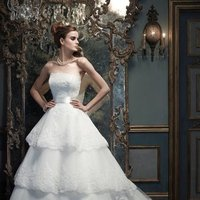 Wedding Dresses, Sweetheart Wedding Dresses, A-line Wedding Dresses, Ball Gown Wedding Dresses, Lace Wedding Dresses, Romantic Wedding Dresses, Fashion, white, ivory, Rustic, Romantic, Lace, Sweetheart, Strapless, Strapless Wedding Dresses, A-line, Floor, Sleeveless, Ball gown, Cb couture, Sash/Belt, rustic wedding dresses, Floor Wedding Dresses, Sash Wedding Dresses, Belt Wedding Dresses
