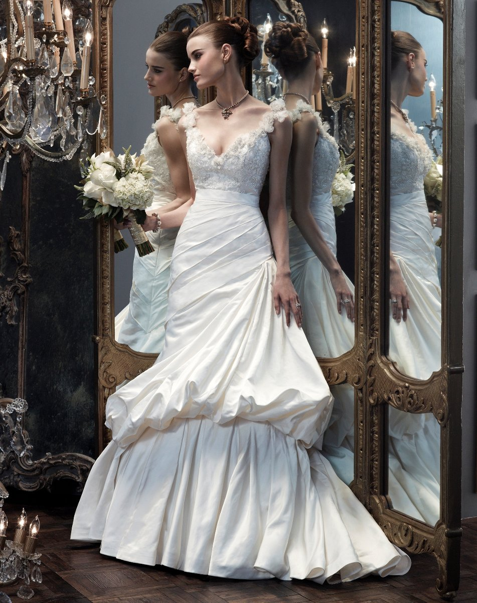 Wedding Dresses, A-line Wedding Dresses, Fashion, white, silver, Flowers, Boho Chic, A-line, Spaghetti straps, Beading, V-neck, V-neck Wedding Dresses, Floor, Silk, Pick-ups, Ruching, Cb couture, Beaded Wedding Dresses, Boho Chic Wedding Dresses, Flower Wedding Dresses, Spahetti Strap Wedding Dresses, Silk Wedding Dresses, Floor Wedding Dresses