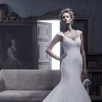 Wedding Dresses, Mermaid Wedding Dresses, Lace Wedding Dresses, Vintage Wedding Dresses, Fashion, ivory, Vintage, Boho Chic, Lace, Beading, V-neck, V-neck Wedding Dresses, Floor, Formal, Country, Ballroom, Cb couture, Mermaid/Trumpet, cap sleeve, historic site, Beaded Wedding Dresses, trumpet wedding dresses, Boho Chic Wedding Dresses, Formal Wedding Dresses, Floor Wedding Dresses