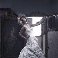 Wedding Dresses, A-line Wedding Dresses, Romantic Wedding Dresses, Fashion, ivory, Flowers, Romantic, A-line, Spaghetti straps, Beading, Floor, Ballroom, Pleats, Sleeveless, Ruching, Shantung, Cb couture, Avant-Garde, Beaded Wedding Dresses, Flower Wedding Dresses, Spahetti Strap Wedding Dresses, Floor Wedding Dresses, Shantung Wedding Dresses