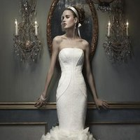 Wedding Dresses, Mermaid Wedding Dresses, Ruffled Wedding Dresses, Lace Wedding Dresses, Hollywood Glam Wedding Dresses, Fashion, ivory, Lace, Strapless, Strapless Wedding Dresses, Petals, Floor, Organza, Silk, Ruffles, Cb couture, Avant-Garde, Mermaid/Trumpet, Fit-n-Flare, hollywood glam, organza wedding dresses, trumpet wedding dresses, Silk Wedding Dresses, Floor Wedding Dresses