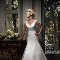 Wedding Dresses, Mermaid Wedding Dresses, Fashion, ivory, Beading, Empire, V-neck, V-neck Wedding Dresses, Floor, Formal, Ballroom, Silk, Pleats, Sleeveless, Cb couture, Sash/Belt, Fit-n-Flare, historic site, Beaded Wedding Dresses, Formal Wedding Dresses, Silk Wedding Dresses, Floor Wedding Dresses, Sash Wedding Dresses, Belt Wedding Dresses