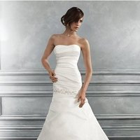 Wedding Dresses, Mermaid Wedding Dresses, Fashion, ivory, Modern, Strapless, Strapless Wedding Dresses, Beading, Floor, Formal, Ballroom, Pick-ups, Ruching, Shantung, Cb couture, Fit-n-Flare, historic site, modern space, Modern Wedding Dresses, Beaded Wedding Dresses, Formal Wedding Dresses, Floor Wedding Dresses, Shantung Wedding Dresses