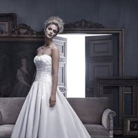 Wedding Dresses, Ball Gown Wedding Dresses, Fashion, ivory, Strapless, Strapless Wedding Dresses, Beading, Floor, Formal, Ballroom, Silk, Museum, Pleats, Ball gown, Cb couture, Sash/Belt, historic site, modern space, Beaded Wedding Dresses, Formal Wedding Dresses, Silk Wedding Dresses, Floor Wedding Dresses, Sash Wedding Dresses, Belt Wedding Dresses