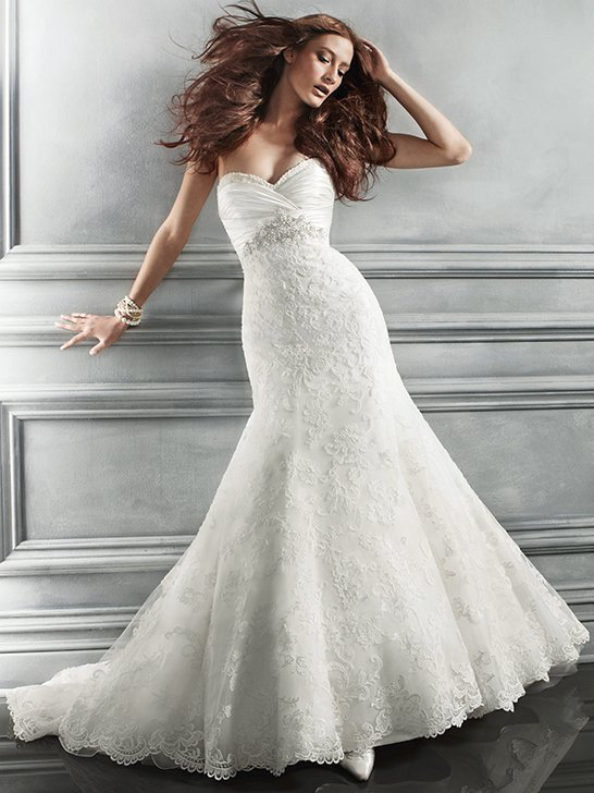 Wedding Dresses, Sweetheart Wedding Dresses, Mermaid Wedding Dresses, Lace Wedding Dresses, Romantic Wedding Dresses, Fashion, ivory, Vineyard, Garden, Boho Chic, Romantic, Lace, Sweetheart, Strapless, Strapless Wedding Dresses, Beading, Empire, Floor, Country, Ruching, Cb couture, Fit-n-Flare, historic site, Beaded Wedding Dresses, Boho Chic Wedding Dresses, Floor Wedding Dresses