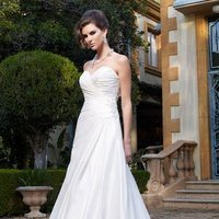 Wedding Dresses, Sweetheart Wedding Dresses, A-line Wedding Dresses, Fashion, white, Classic, Sweetheart, Strapless, Strapless Wedding Dresses, A-line, Beading, Floor, Formal, Ballroom, Ruching, Shantung, Cb couture, historic site, modern space, Beaded Wedding Dresses, Classic Wedding Dresses, Formal Wedding Dresses, Floor Wedding Dresses, Shantung Wedding Dresses