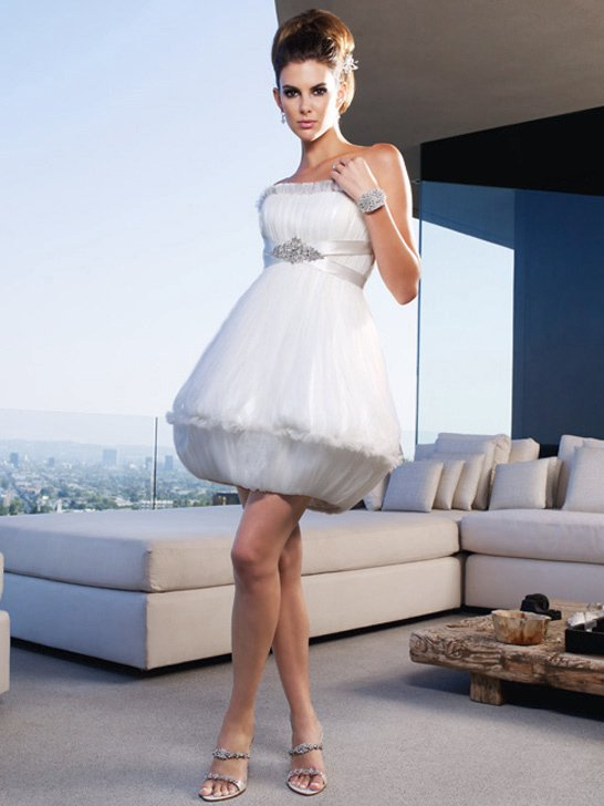Wedding Dresses, A-line Wedding Dresses, Fashion, ivory, Summer, Modern, Garden, City, Strapless, Strapless Wedding Dresses, A-line, Beading, Short, Tulle, Museum, Cb couture, Avant-Garde, modern space, Short Wedding Dresses, Modern Wedding Dresses, Beaded Wedding Dresses, tulle wedding dresses, Summer Wedding Dresses