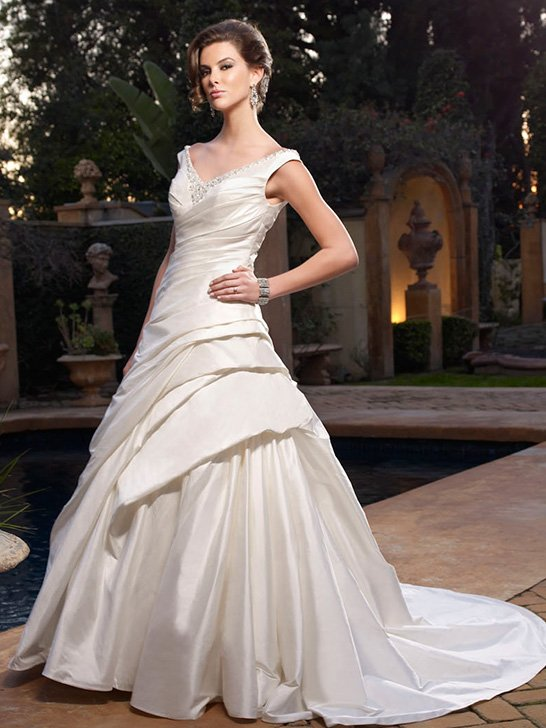 Wedding Dresses, A-line Wedding Dresses, Fashion, white, A-line, Off the shoulder, Beading, V-neck, V-neck Wedding Dresses, Floor, Formal, Ballroom, Pleats, Ruching, Shantung, Cb couture, historic site, modern space, Off the Shoulder Wedding Dresses, Beaded Wedding Dresses, Formal Wedding Dresses, Floor Wedding Dresses, Shantung Wedding Dresses