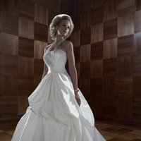 Wedding Dresses, Ball Gown Wedding Dresses, Fashion, ivory, Winter, Strapless, Strapless Wedding Dresses, Beading, Floor, Formal, Ballroom, Pick-ups, Ruching, Ball gown, Shantung, Cb couture, Avant-Garde, historic site, Beaded Wedding Dresses, winter wedding dresses, Formal Wedding Dresses, Floor Wedding Dresses, Shantung Wedding Dresses