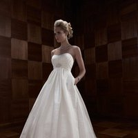 Wedding Dresses, A-line Wedding Dresses, Fashion, ivory, Modern, Classic, Strapless, Strapless Wedding Dresses, A-line, Beading, Empire, Floor, Formal, Ballroom, Ruching, Shantung, Cb couture, modern space, Modern Wedding Dresses, Beaded Wedding Dresses, Classic Wedding Dresses, Formal Wedding Dresses, Floor Wedding Dresses, Shantung Wedding Dresses