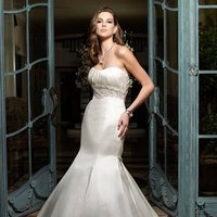 Wedding Dresses, Mermaid Wedding Dresses, Fashion, ivory, Classic, Strapless, Strapless Wedding Dresses, Beading, Floor, Formal, Ballroom, Silk, Museum, Pleats, Cb couture, Sash/Belt, Fit-n-Flare, historic site, Beaded Wedding Dresses, Classic Wedding Dresses, Formal Wedding Dresses, Silk Wedding Dresses, Floor Wedding Dresses, Sash Wedding Dresses, Belt Wedding Dresses