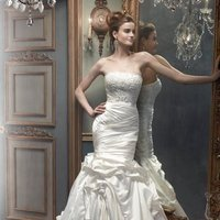 Wedding Dresses, Mermaid Wedding Dresses, Fashion, white, ivory, silver, Modern, Strapless, Strapless Wedding Dresses, Beading, Floor, Silk, Pleats, Pick-ups, Sleeveless, Cb couture, Mermaid/Trumpet, Fit-n-Flare, Modern Wedding Dresses, Beaded Wedding Dresses, trumpet wedding dresses, Silk Wedding Dresses, Floor Wedding Dresses