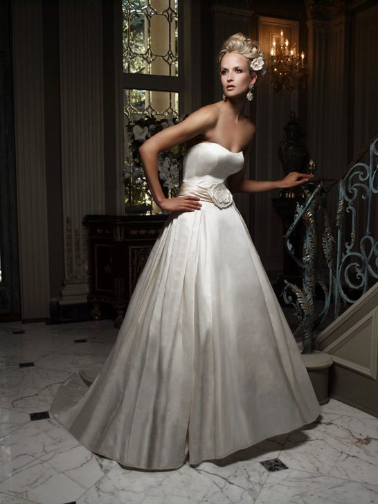 Wedding Dresses, A-line Wedding Dresses, Fashion, ivory, Summer, Modern, Garden, Flowers, Strapless, Strapless Wedding Dresses, A-line, Floor, Formal, Ballroom, Silk, Cb couture, Sash/Belt, historic site, Modern Wedding Dresses, Flower Wedding Dresses, Formal Wedding Dresses, Silk Wedding Dresses, Summer Wedding Dresses, Floor Wedding Dresses, Sash Wedding Dresses, Belt Wedding Dresses