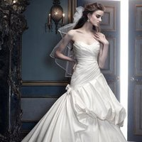 Wedding Dresses, Sweetheart Wedding Dresses, A-line Wedding Dresses, Ball Gown Wedding Dresses, Fashion, white, ivory, silver, Rustic, Modern, Sweetheart, Strapless, Strapless Wedding Dresses, A-line, Floor, Silk, Pleats, Pick-ups, Sleeveless, Ball gown, Cb couture, Modern Wedding Dresses, rustic wedding dresses, Silk Wedding Dresses, Floor Wedding Dresses