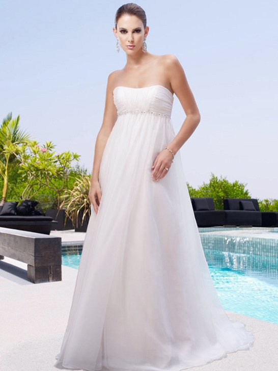 Wedding Dresses, A-line Wedding Dresses, Beach Wedding Dresses, Fashion, ivory, Beach, Summer, Garden, Boho Chic, Strapless, Strapless Wedding Dresses, A-line, Beading, Empire, Floor, Organza, Ruching, Cb couture, Beaded Wedding Dresses, organza wedding dresses, Boho Chic Wedding Dresses, Summer Wedding Dresses, Floor Wedding Dresses