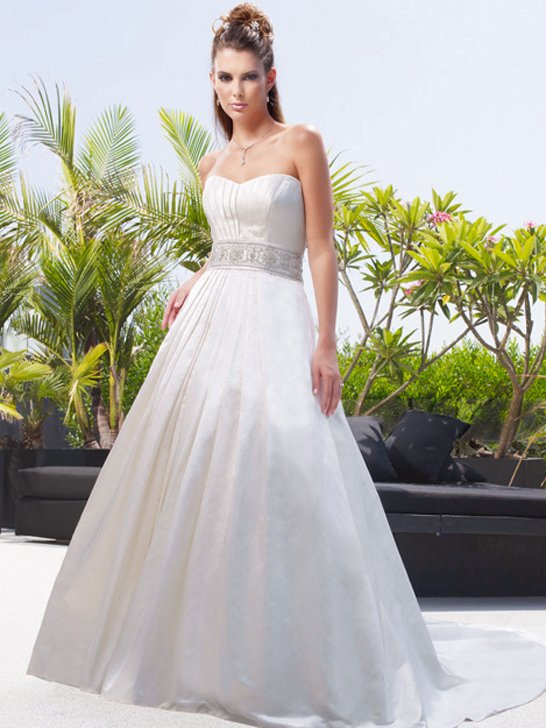 Wedding Dresses, A-line Wedding Dresses, Fashion, ivory, Modern, Classic, Strapless, Strapless Wedding Dresses, A-line, Beading, Floor, Ballroom, Silk, Pleats, Cb couture, Sash/Belt, historic site, modern space, Modern Wedding Dresses, Beaded Wedding Dresses, Classic Wedding Dresses, Silk Wedding Dresses, Floor Wedding Dresses, Sash Wedding Dresses, Belt Wedding Dresses