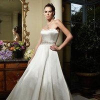 Wedding Dresses, A-line Wedding Dresses, Fashion, ivory, Modern, Classic, Strapless, Strapless Wedding Dresses, A-line, Beading, Floor, Formal, Ballroom, Silk, Country club, Cb couture, Sash/Belt, historic site, Modern Wedding Dresses, Beaded Wedding Dresses, Classic Wedding Dresses, Formal Wedding Dresses, Silk Wedding Dresses, Floor Wedding Dresses, Sash Wedding Dresses, Belt Wedding Dresses
