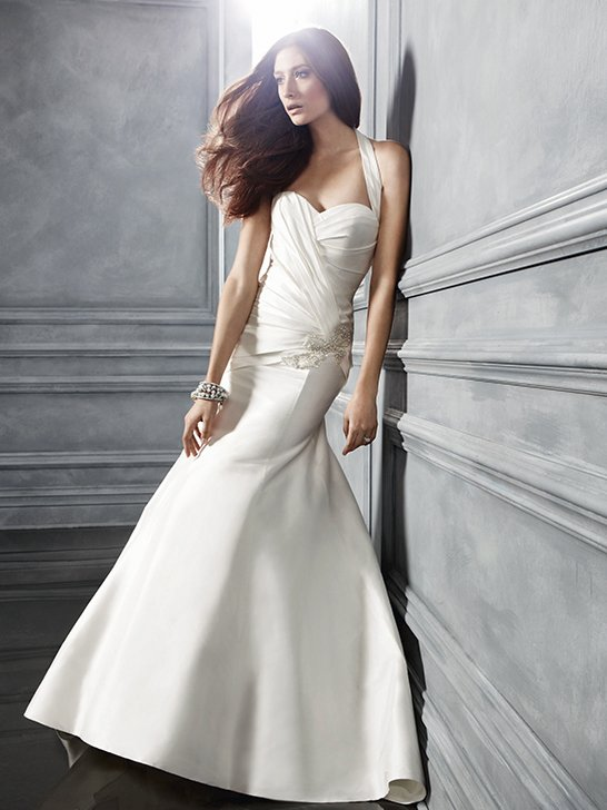 Wedding Dresses, Sweetheart Wedding Dresses, A-line Wedding Dresses, Fashion, ivory, Modern, Sweetheart, A-line, Beading, Halter, Floor, Formal, Ballroom, Museum, Pleats, Sleeveless, Ruching, Shantung, Cb couture, modern space, Modern Wedding Dresses, halter wedding dresses, Beaded Wedding Dresses, Formal Wedding Dresses, Floor Wedding Dresses, Shantung Wedding Dresses