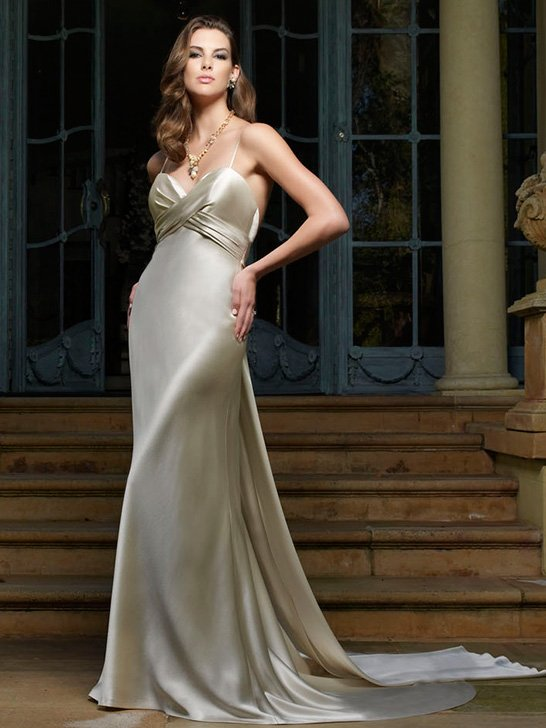 Wedding Dresses, Sweetheart Wedding Dresses, Vintage Wedding Dresses, Hollywood Glam Wedding Dresses, Fashion, ivory, Vintage, Classic, Vineyard, Garden, Sweetheart, Spaghetti straps, Sheath, Satin, Floor, Sleeveless, Ruching, Cb couture, hollywood glam, Classic Wedding Dresses, satin wedding dresses, Spahetti Strap Wedding Dresses, Sheath Wedding Dresses, Floor Wedding Dresses