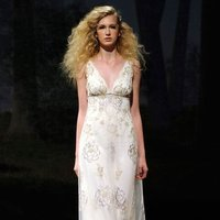 ivory, gold, Vintage, Eco-Friendly, Vineyard, Garden, Boho Chic, Romantic, Lace, Beading, V-neck, Sheath, Floor, Silk, Sleeveless, Claire pettibone
