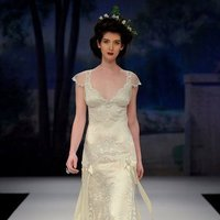 Wedding Dresses, Romantic Wedding Dresses, Vintage Wedding Dresses, Fashion, ivory, Vintage, Eco-Friendly, Vineyard, Garden, Flowers, Shabby Chic, Boho Chic, Romantic, V-neck, V-neck Wedding Dresses, Sheath, Floor, Silk, Claire pettibone, cap sleeve, illusion sleeves, Boho Chic Wedding Dresses, Flower Wedding Dresses, Sheath Wedding Dresses, Silk Wedding Dresses, Floor Wedding Dresses, Shabby Chic Wedding Dresses, Eco Friendly Wedding Dresses