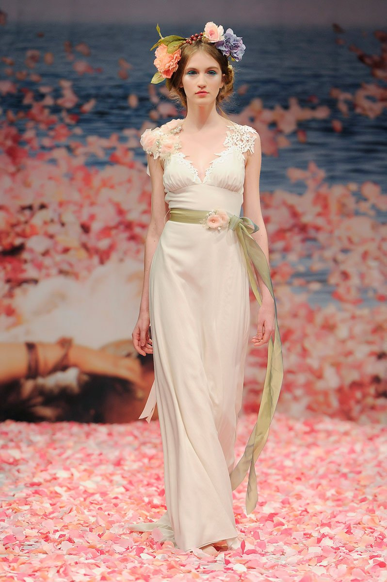 Wedding Dresses, Romantic Wedding Dresses, Fashion, ivory, Eco-Friendly, Garden, Flowers, Shabby Chic, Boho Chic, Romantic, Beading, V-neck, V-neck Wedding Dresses, Sheath, Petals, Floor, Linen, Natural, Claire pettibone, cap sleeve, Beaded Wedding Dresses, Boho Chic Wedding Dresses, Flower Wedding Dresses, Sheath Wedding Dresses, Floor Wedding Dresses, Linen Wedding Dresses, Shabby Chic Wedding Dresses, Eco Friendly Wedding Dresses
