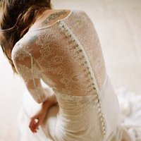 Wedding Dresses, Illusion Neckline Wedding Dresses, Lace Wedding Dresses, Romantic Wedding Dresses, Vintage Wedding Dresses, Fashion, ivory, Vintage, Eco-Friendly, Vineyard, Garden, Boho Chic, Romantic, Lace, Sheath, Floor, Linen, Illusion, Long sleeve, Claire pettibone, illusion sleeves, Boho Chic Wedding Dresses, Sheath Wedding Dresses, Floor Wedding Dresses, Linen Wedding Dresses, Eco Friendly Wedding Dresses