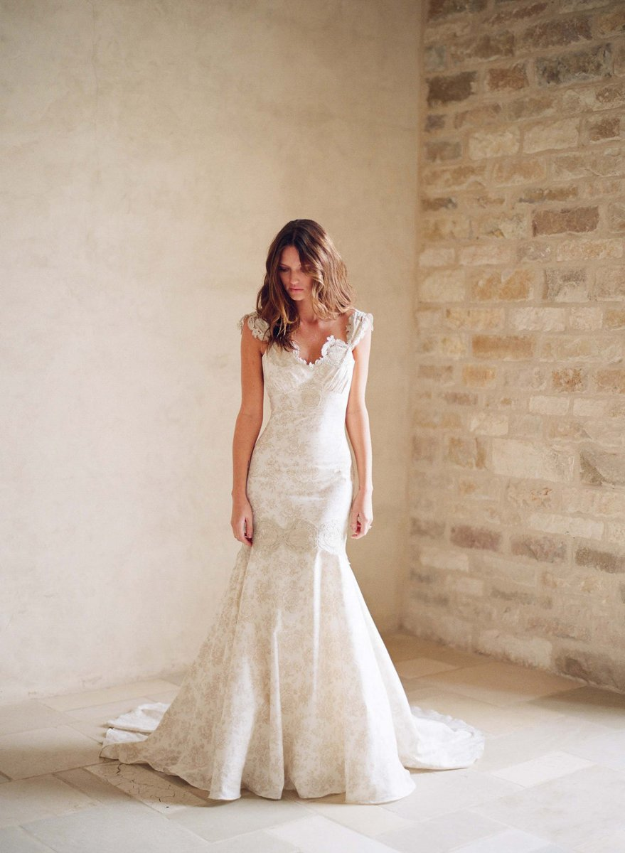 Wedding Dresses, Sweetheart Wedding Dresses, Romantic Wedding Dresses, Vintage Wedding Dresses, Fashion, ivory, Vintage, Eco-Friendly, Vineyard, Garden, Shabby Chic, Boho Chic, Romantic, Sweetheart, Sheath, Floor, Country, Dropped, Cotton, Claire pettibone, cap sleeve, Boho Chic Wedding Dresses, Sheath Wedding Dresses, Floor Wedding Dresses, Cotton Wedding Dresses, Shabby Chic Wedding Dresses, Eco Friendly Wedding Dresses