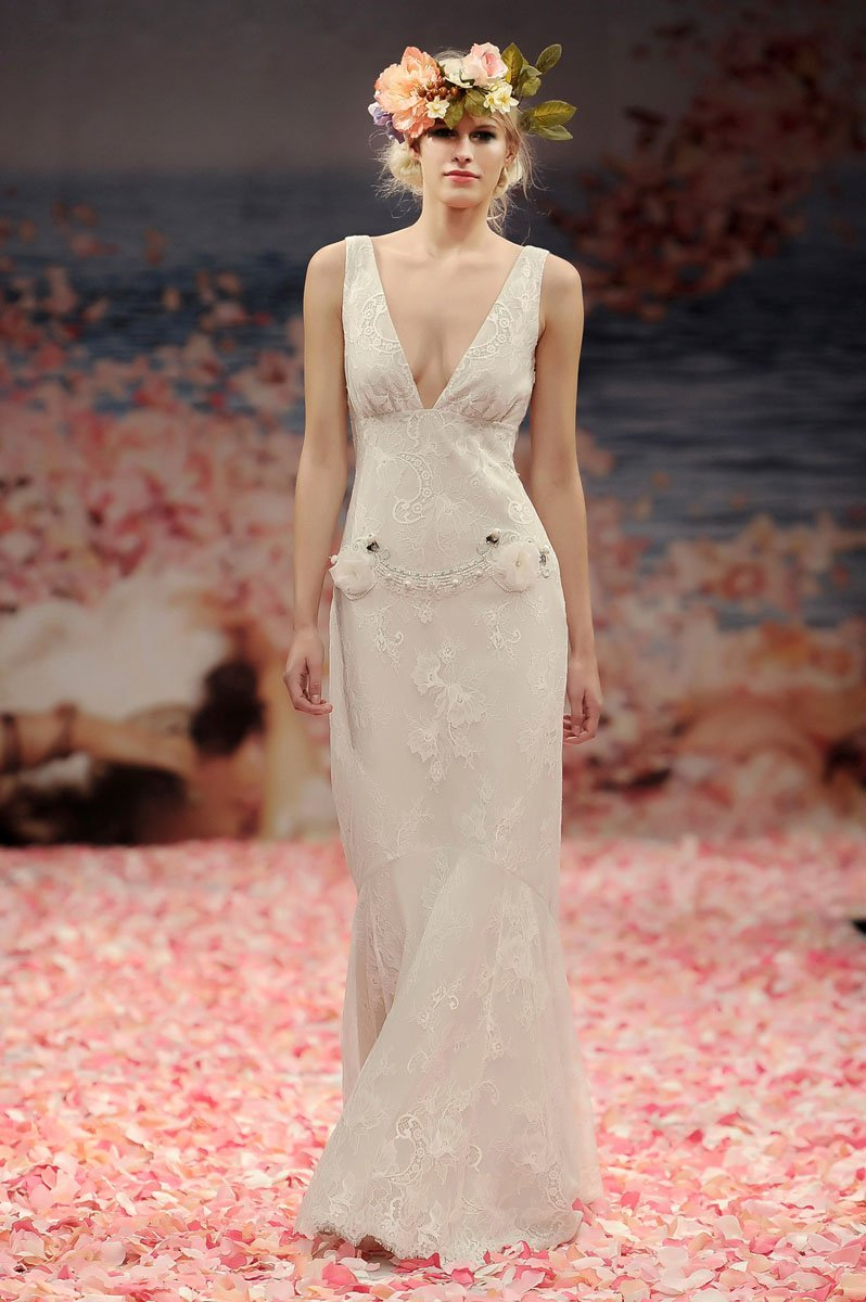 Wedding Dresses, Lace Wedding Dresses, Romantic Wedding Dresses, Vintage Wedding Dresses, Fashion, ivory, Vintage, Eco-Friendly, Vineyard, Garden, Flowers, Shabby Chic, Boho Chic, Romantic, Lace, Beading, V-neck, V-neck Wedding Dresses, Sheath, Floor, Sleeveless, Claire pettibone, Beaded Wedding Dresses, Boho Chic Wedding Dresses, Flower Wedding Dresses, Sheath Wedding Dresses, Floor Wedding Dresses, Shabby Chic Wedding Dresses, Eco Friendly Wedding Dresses