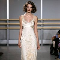 Wedding Dresses, Fashion, ivory, Eco-Friendly, Garden, Flowers, Boho Chic, Empire, V-neck, V-neck Wedding Dresses, Sheath, Tulle, Floor, Silk, Cotton, Claire pettibone, Sash/Belt, illusion sleeves, Boho Chic Wedding Dresses, tulle wedding dresses, Flower Wedding Dresses, Sheath Wedding Dresses, Silk Wedding Dresses, Floor Wedding Dresses, Cotton Wedding Dresses, Sash Wedding Dresses, Belt Wedding Dresses, Eco Friendly Wedding Dresses