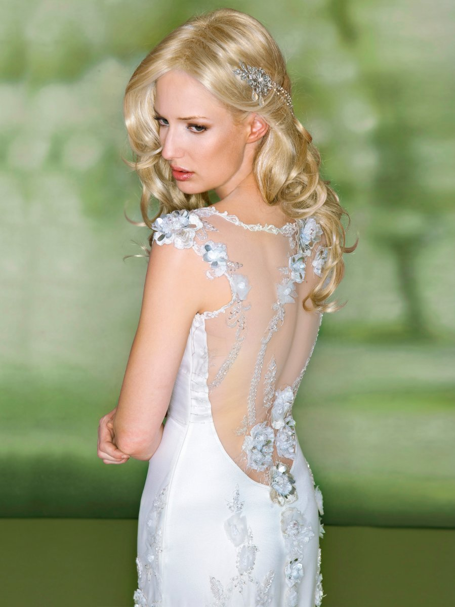 Wedding Dresses, Sweetheart Wedding Dresses, Romantic Wedding Dresses, Fashion, white, silver, Spring, Fall, Eco-Friendly, Flowers, Boho Chic, Romantic, Sweetheart, Beading, Sheath, Tulle, Floor, Natural, Claire pettibone, cap sleeve, Beaded Wedding Dresses, Boho Chic Wedding Dresses, Spring Wedding Dresses, tulle wedding dresses, Flower Wedding Dresses, Fall Wedding Dresses, Sheath Wedding Dresses, Floor Wedding Dresses, Eco Friendly Wedding Dresses