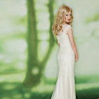 Wedding Dresses, Sweetheart Wedding Dresses, Romantic Wedding Dresses, Fashion, white, ivory, Rustic, Eco-Friendly, Boho Chic, Romantic, Sweetheart, Spaghetti straps, Sheath, Floor, Natural, Silk, Pick-ups, Claire pettibone, cap sleeve, rustic wedding dresses, Boho Chic Wedding Dresses, Spahetti Strap Wedding Dresses, Sheath Wedding Dresses, Silk Wedding Dresses, Floor Wedding Dresses, Eco Friendly Wedding Dresses