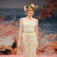 Wedding Dresses, Illusion Neckline Wedding Dresses, Fashion, ivory, gold, Eco-Friendly, Garden, Boho Chic, Beading, Sheath, Tulle, Floor, Natural, Silk, Illusion, Long sleeve, Claire pettibone, Sash/Belt, illusion sleeves, Beaded Wedding Dresses, Boho Chic Wedding Dresses, tulle wedding dresses, Sheath Wedding Dresses, Silk Wedding Dresses, Floor Wedding Dresses, Sash Wedding Dresses, Belt Wedding Dresses, Eco Friendly Wedding Dresses