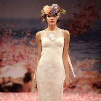 Wedding Dresses, Illusion Neckline Wedding Dresses, Lace Wedding Dresses, Romantic Wedding Dresses, Vintage Wedding Dresses, Fashion, ivory, Vintage, Eco-Friendly, Garden, Flowers, Boho Chic, Romantic, Lace, Beading, Sheath, Floor, Silk, Illusion, Sleeveless, Claire pettibone, bateau, Bateau Wedding Dresses, Beaded Wedding Dresses, Boho Chic Wedding Dresses, Flower Wedding Dresses, Sheath Wedding Dresses, Silk Wedding Dresses, Floor Wedding Dresses, Eco Friendly Wedding Dresses