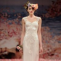 Wedding Dresses, Sweetheart Wedding Dresses, Romantic Wedding Dresses, Vintage Wedding Dresses, Fashion, ivory, Vintage, Eco-Friendly, Vineyard, Garden, Shabby Chic, Boho Chic, Romantic, Sweetheart, Sheath, Petals, Floor, Silk, Claire pettibone, cap sleeve, illusion sleeves, Boho Chic Wedding Dresses, Sheath Wedding Dresses, Silk Wedding Dresses, Floor Wedding Dresses, Shabby Chic Wedding Dresses, Eco Friendly Wedding Dresses