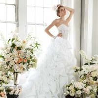 Wedding Dresses, Sweetheart Wedding Dresses, Ball Gown Wedding Dresses, Fashion, Sweetheart, David's Bridal, Pick-ups, Ball gown, Bridal Luxe, illusion bodice