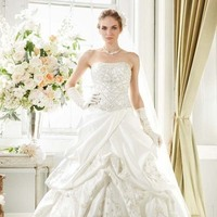 Wedding Dresses, Ball Gown Wedding Dresses, Fashion, Strapless, Strapless Wedding Dresses, Beading, David's Bridal, Pick-ups, Ball gown, Bridal Luxe, Beaded Wedding Dresses