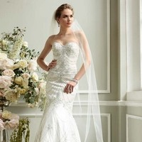 Wedding Dresses, Sweetheart Wedding Dresses, Fashion, Sweetheart, Fit and flare, David's Bridal, Bridal Luxe