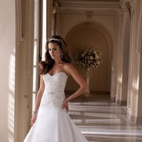 ivory, Summer, Vintage, Lace, Sweetheart, Strapless, A-line, Beading, Satin, Floor, Formal, Ballroom, David tutera for mon cheri, historic site