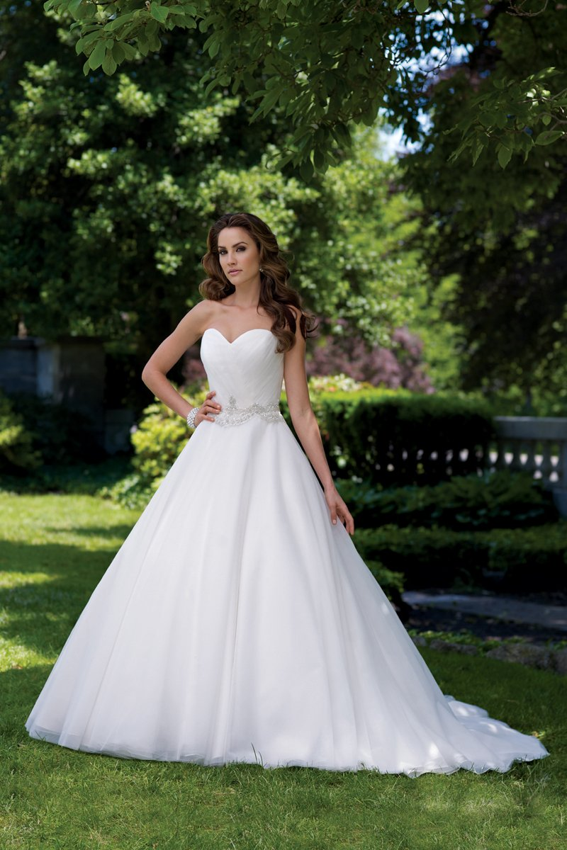 white, Summer, Sweetheart, Strapless, Beading, Tulle, Floor, Formal, Organza, Ballroom, Ruching, Ball gown, David tutera for mon cheri, historic site