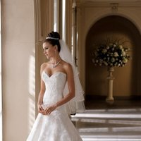 white, ivory, Summer, Classic, Lace, Sweetheart, Strapless, Beading, Floor, Formal, Country, Ballroom, David tutera for mon cheri, historic site