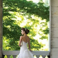 white, Summer, Classic, Lace, Strapless, A-line, Beading, Floor, Formal, Organza, Ballroom, Dropped, David tutera for mon cheri, historic site