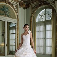 white, ivory, Modern, Flowers, Romantic, Lace, Sweetheart, Beading, Tulle, Floor, Formal, Dropped, Taffeta, Sleeveless, Ball gown, David tutera for mon cheri, One-shoulder