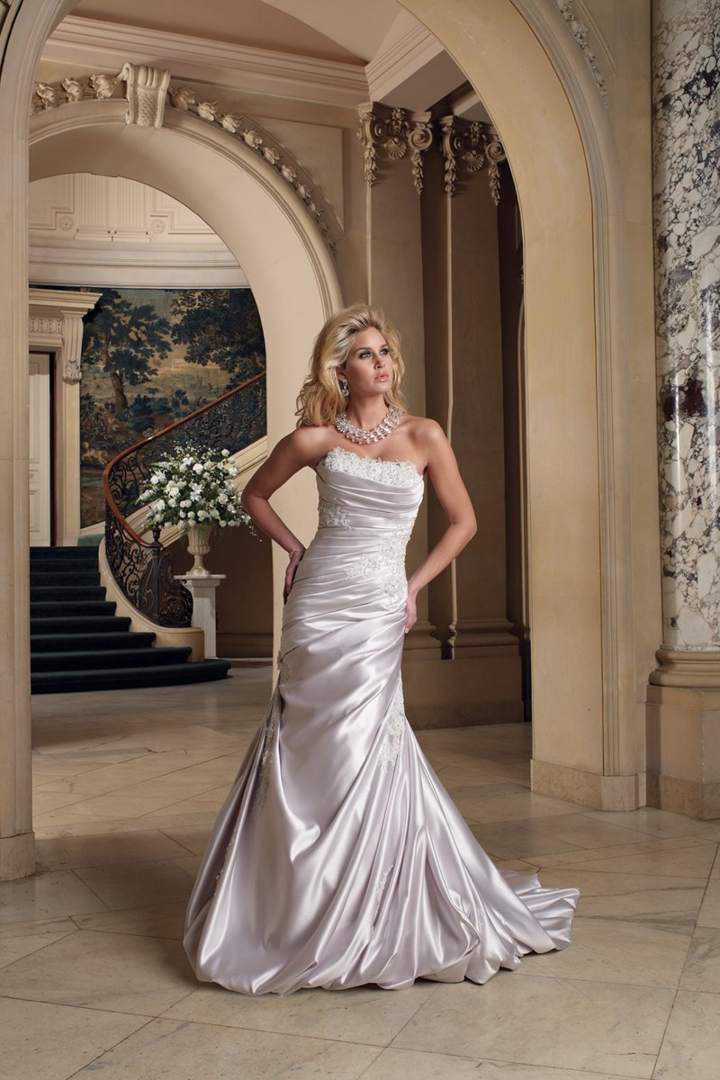 white, ivory, silver, Modern, Square, Lace, Strapless, A-line, Beading, Satin, Floor, Formal, Dropped, Modest, Pleats, Sleeveless, Ruching, David tutera for mon cheri, hollywood glam