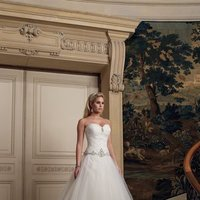 white, ivory, Sweetheart, Strapless, Spaghetti straps, Beading, Halter, Tulle, Floor, Ruching, Ball gown, David tutera for mon cheri