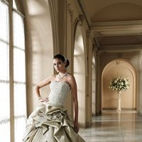 ivory, green, Modern, Flowers, Lace, Sweetheart, Strapless, Floor, Formal, Dropped, Taffeta, Pick-ups, Sleeveless, Ruching, Ball gown, David tutera for mon cheri, Avant-Garde