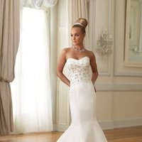 Modern, Sweetheart, Strapless, Beading, Floor, Formal, Dropped, Sleeveless, David tutera for mon cheri, Mermaid/Trumpet, Fit-n-Flare, hollywood glam